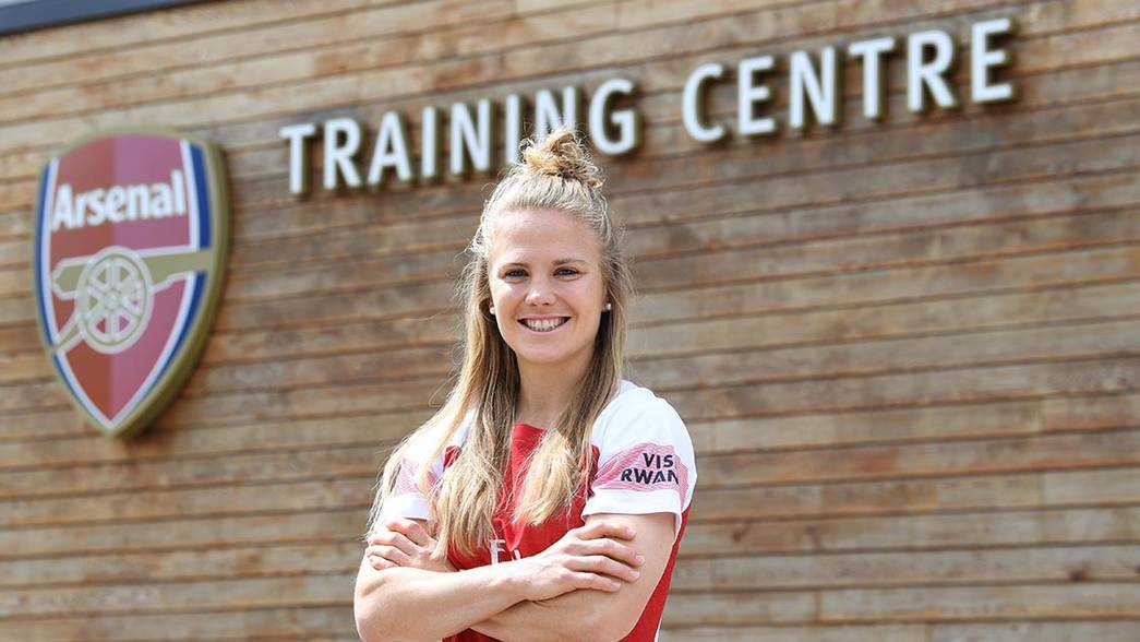 Leonie Maier, Arsenal Women latest signing. Arsenal Training Ground. London Colney, Herts, 22/5/19. Credit : Arsenal Football Club / David Price.