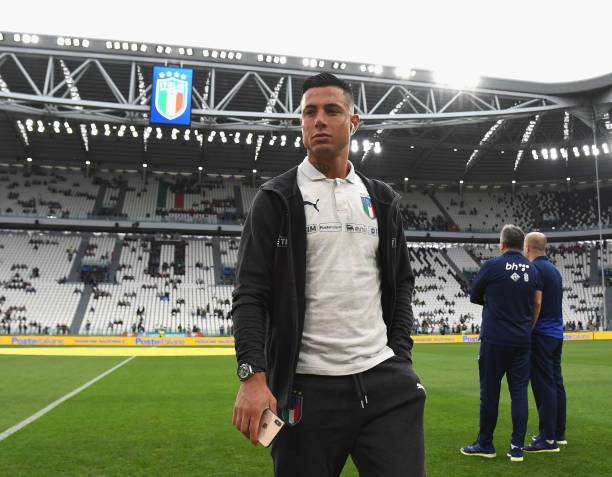 TURIN, ITALY - JUNE 11: Armando Izzo of Italy looks on the UEFA Euro 2020 Qualifier between Italy and Bosnia and Herzegovina at Juventus Stadium on June 11, 2019 in Turin, Italy. (Photo by Claudio Villa/Getty Images)