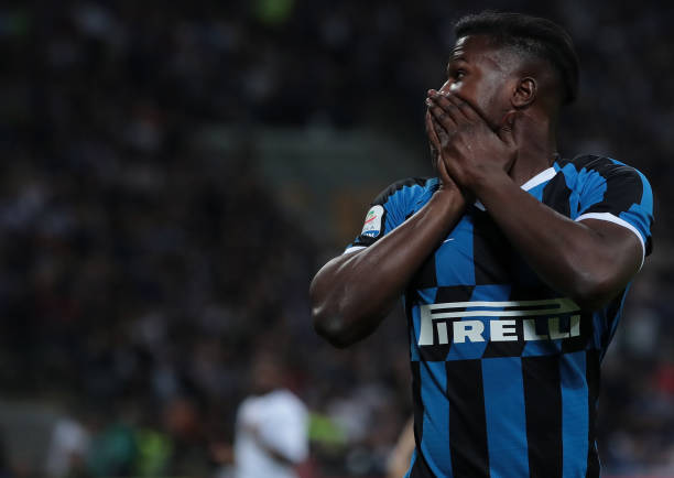 MILAN, ITALY - MAY 26:  Keita Balde of FC Internazionale reacts during the Serie A match between FC Internazionale and Empoli FC at Stadio Giuseppe Meazza on May 26, 2019 in Milan, Italy.  (Photo by Emilio Andreoli/Getty Images)
