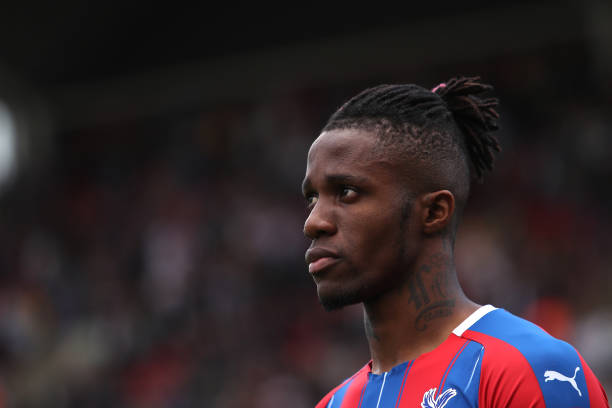 LONDON, ENGLAND - MAY 12: Wilfried Zaha of Crystal Palace during the Premier League match between Crystal Palace and AFC Bournemouth at Selhurst Park on May 12, 2019 in London, United Kingdom. (Photo by Christopher Lee/Getty Images)
