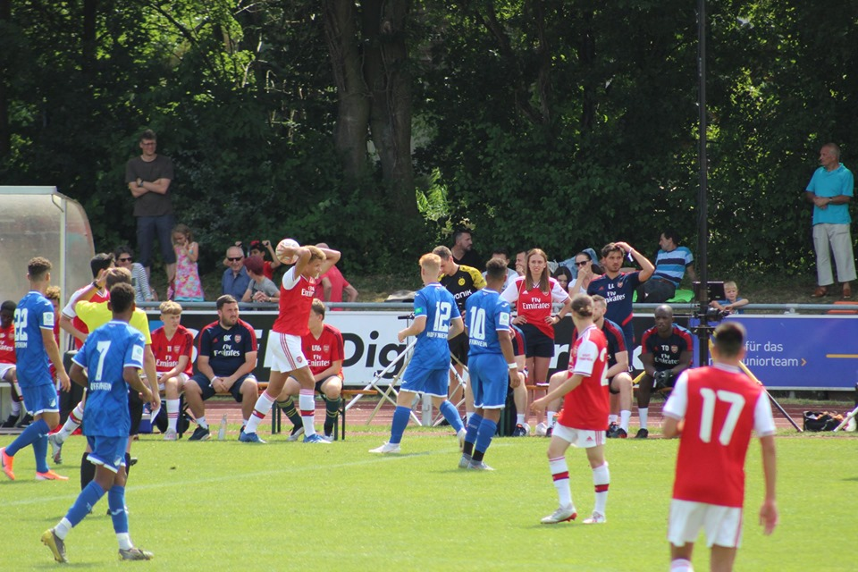 Arsenal playing in the u17 Bundesliga Cup against TSG Hoffenheim 1899 (Photo via Facebook / u17-Bundesliga Cup)