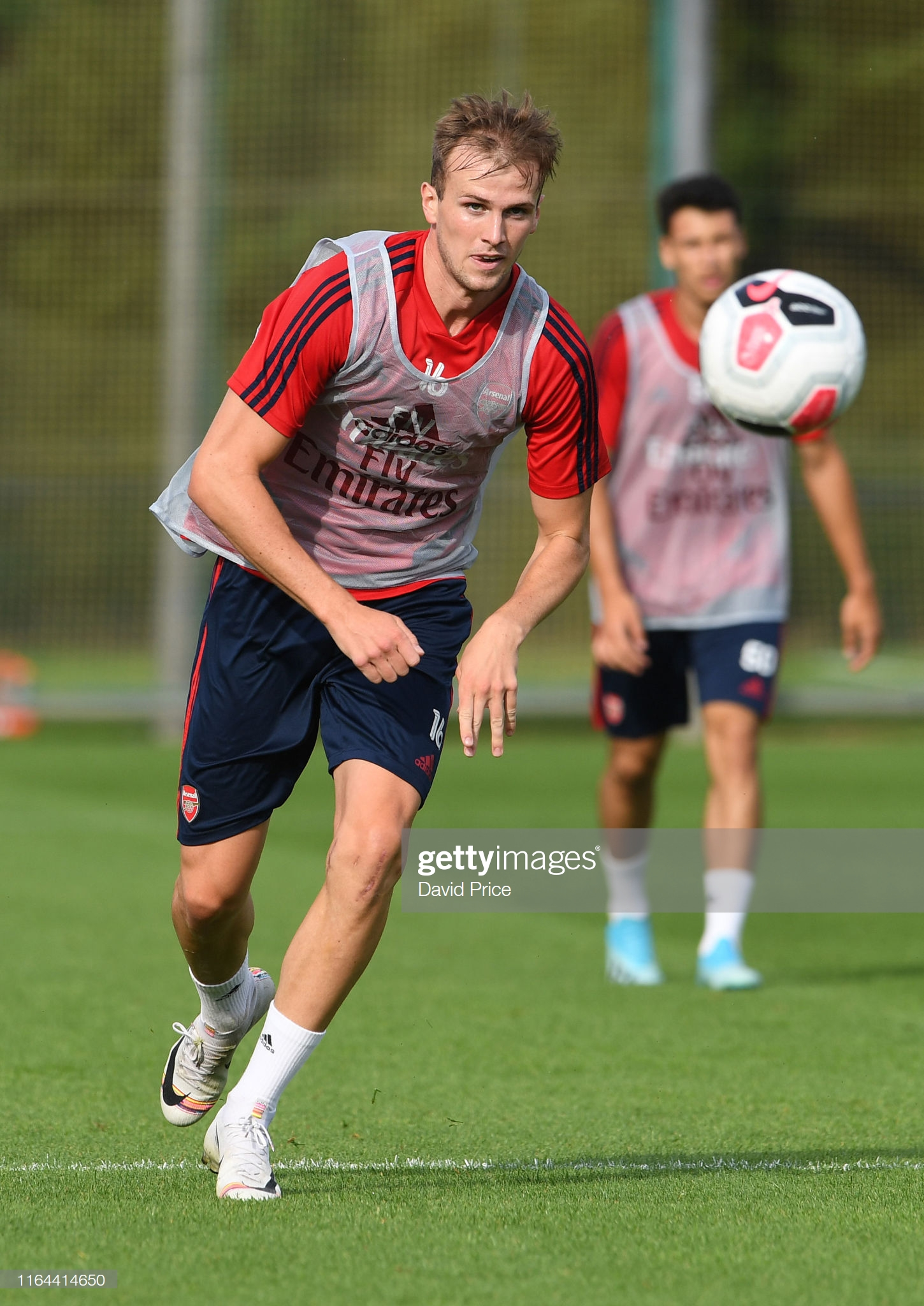 ST ALBANS, ENGLAND - JULY 26: Rob Holding of Arsenal during the Arsenal Training Session at London Colney on July 26, 2019, in St Albans, England. (Photo by David Price/Arsenal FC via Getty Images)