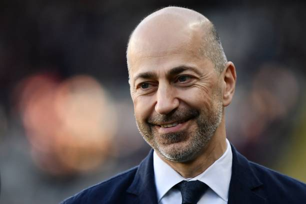 Milan's CEO Ivan Gazidis looks on prior to the Italian Serie A football match between Torino and AC Milan on April 28, 2019 at the Grande Torino stadium in Turin. (Photo by MARCO BERTORELLO / AFP)
