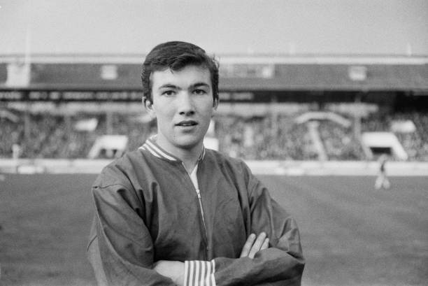 English footballer Jon Sammels of Arsenal pictured prior to playing for the England national under-18 football team in the final of the 1963 UEFA European Under-18 Championship match at White City Stadium in London on 23rd April 1963. England would go on to beat Northern Ireland 4-0 in the final to win the championship. (Photo by Daily Express/Hulton Archive/Getty Images)