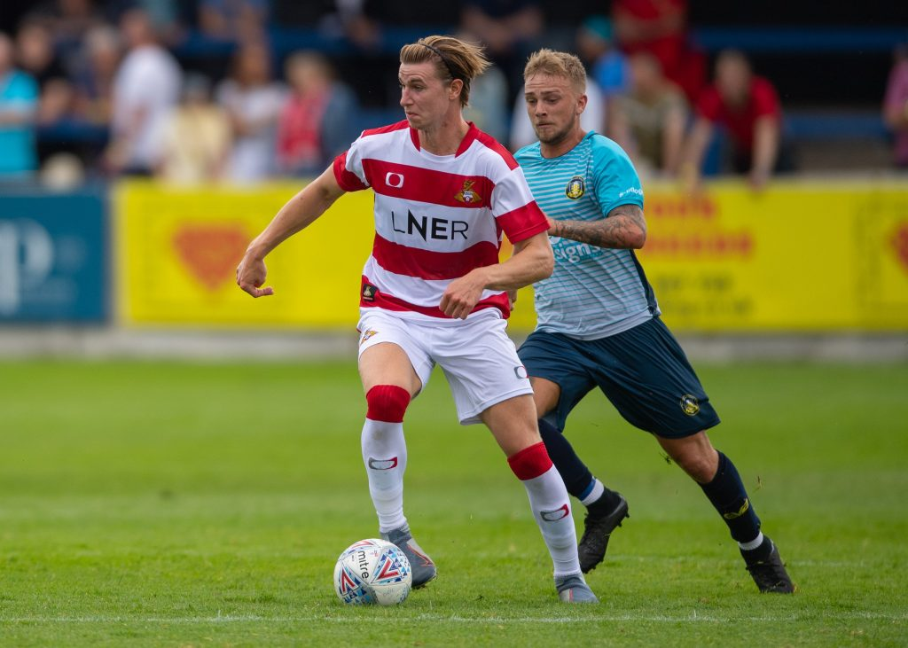 Ben Sheaf with Doncaster Rovers (Photo via Twitter / DRFC_Official)