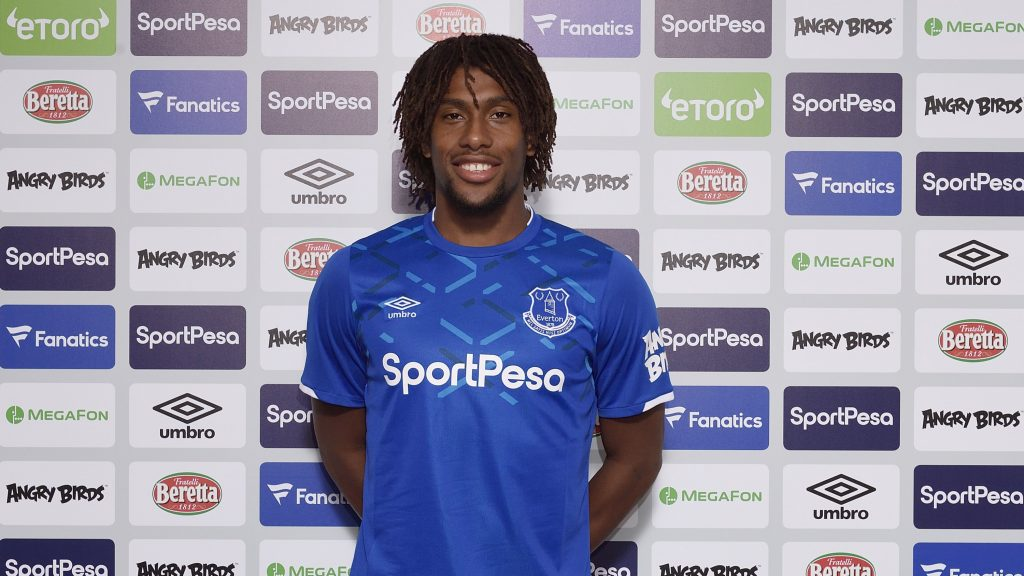 Alex Iwobi (Photo via Twitter / Everton)
