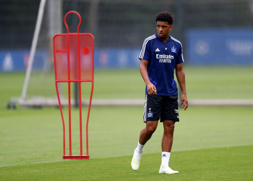 HAMBURG, GERMANY - JULY 29: Xavier Amaechi looks on during a training session at training ground near Volksparkstadion on July 29, 2019 in Hamburg, Germany. (Photo by Martin Rose/Bongarts/Getty Images)