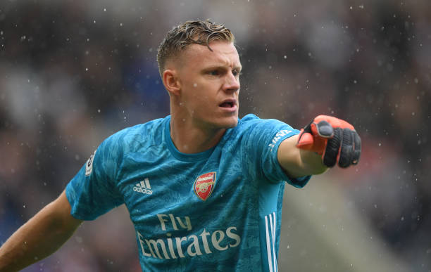 NEWCASTLE UPON TYNE, ENGLAND - AUGUST 11: Arsenal goalkeeper Bernd Leno reacts during the Premier League match between Newcastle United and Arsenal FC at St. James Park on August 11, 2019 in Newcastle upon Tyne, United Kingdom. (Photo by Stu Forster/Getty Images)