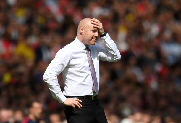 LONDON, ENGLAND - AUGUST 17: Sean Dyche, Manager of Burnley during the Premier League match between Arsenal FC and Burnley FC at Emirates Stadium on August 17, 2019 in London, United Kingdom. (Photo by Michael Regan/Getty Images)