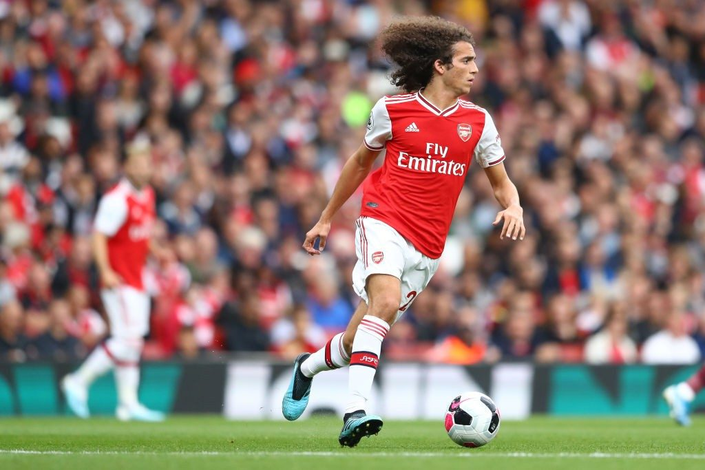 LONDON, ENGLAND - SEPTEMBER 22: Matteo Guendouzi of Arsenal during the Premier League match between Arsenal FC and Aston Villa at Emirates Stadium on September 22, 2019, in London, United Kingdom. (Photo by Michael Steele/Getty Images)