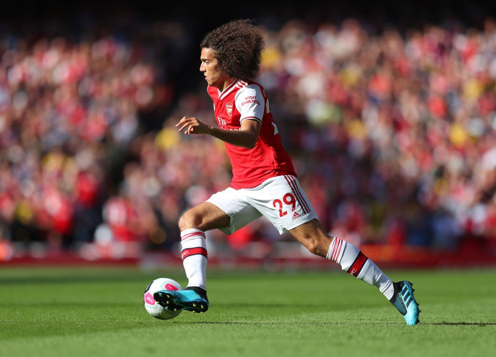 LONDON, ENGLAND - SEPTEMBER 01: Matteo Guendouzi of Arsenal during the Premier League match between Arsenal FC and Tottenham Hotspur at Emirates Stadium on September 01, 2019, in London, United Kingdom. (Photo by Catherine Ivill/Getty Images)