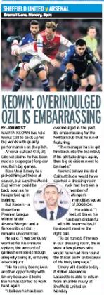 191019 daily mirror keown ozil