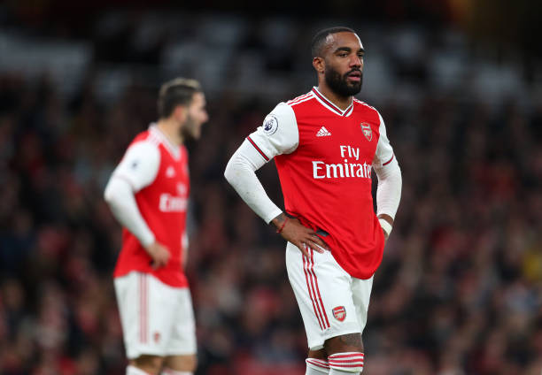 LONDON, ENGLAND - OCTOBER 27: Alexandre Lacazette of Arsenal during the Premier League match between Arsenal FC and Crystal Palace at Emirates Stadium on October 27, 2019 in London, United Kingdom. (Photo by Catherine Ivill/Getty Images)
