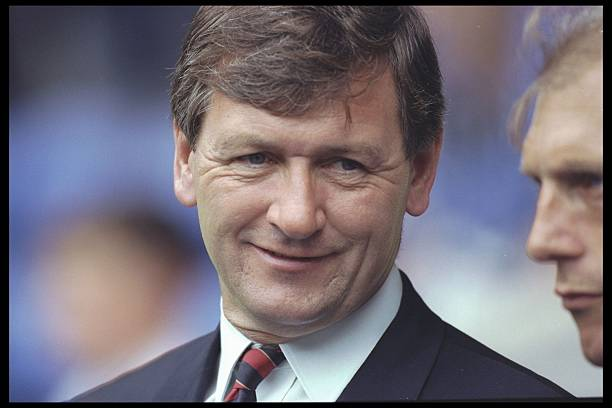 31 Jul 1996: A portrait of Bruce Rioch the manager of Arsenal taken during the testimonial match for Richard Gough of Glasgow Rangers, at Ibrox in Glasgow. Credit: Clive Mason/Allsport UK