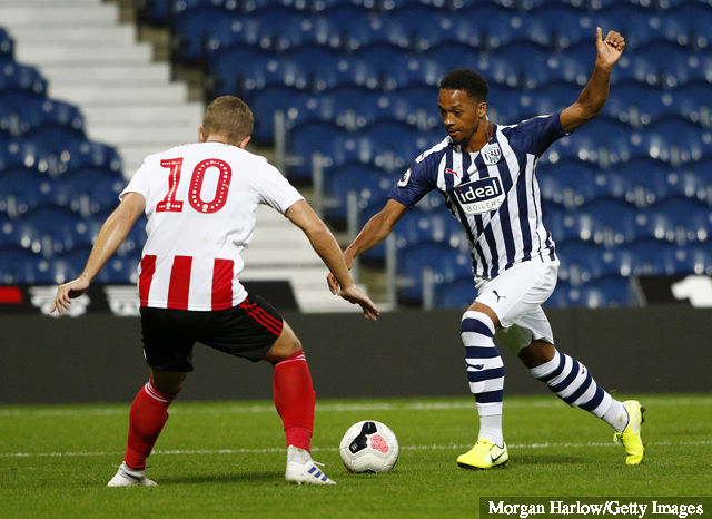 Chris Willock with the West Brom u23s (Photo via Morgan Harlow / Getty Images)