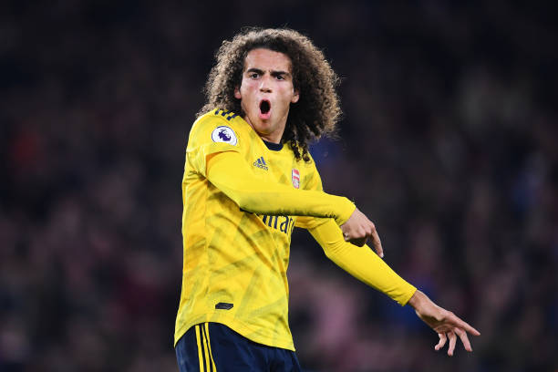 SHEFFIELD, ENGLAND - OCTOBER 21: Matteo Guendouzi of Arsenal reacts during the Premier League match between Sheffield United and Arsenal FC at Bramall Lane on October 21, 2019 in Sheffield, United Kingdom. (Photo by Laurence Griffiths/Getty Images)