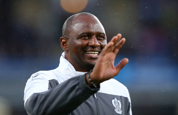BURNLEY, ENGLAND - JULY 30:  Patrick Vieira the manager of Nice looks on during a pre-season friendly match between Burnley and Nice at Turf Moor on July 30, 2019 in Burnley, England. (Photo by Alex Livesey/Getty Images)