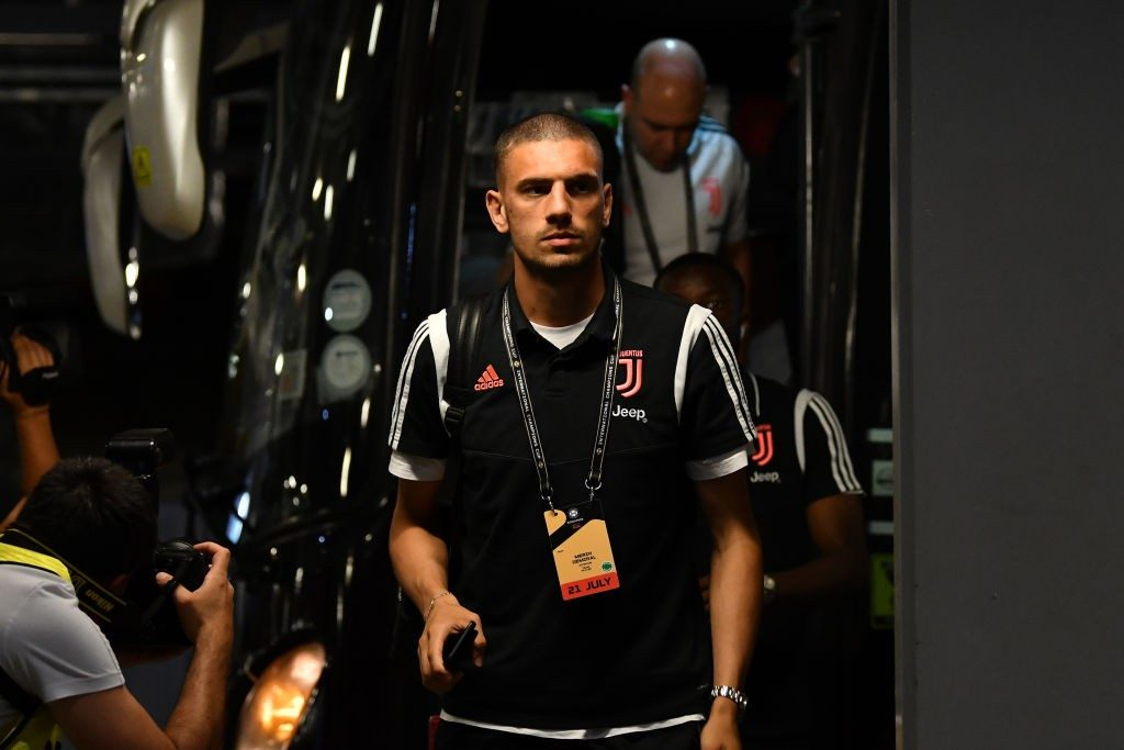 SINGAPORE, SINGAPORE - JULY 21: Merih Demiral of Juventus is seen on arrival at the stadium prior to the International Champions Cup match between Juventus and Tottenham Hotspur at the Singapore National Stadium on July 21, 2019, in Singapore. (Photo by Thananuwat Srirasant/Getty Images)