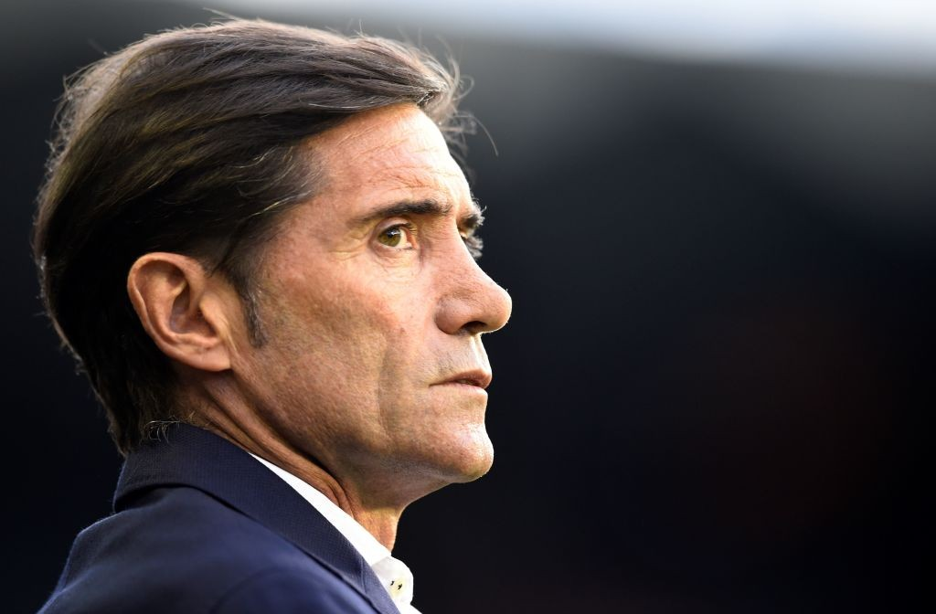 Former Valencia coach Marcelino Garcia Toral looks on during the Spanish League football match between Celta Vigo and Valencia at the Balaidos stadium in Madrid on August 24, 2019. (Photo by MIGUEL RIOPA / AFP / Getty Images)