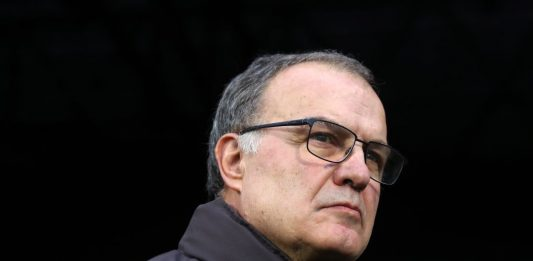 LONDON, ENGLAND - DECEMBER 21: Leeds manager Marcelo Bielsa during the Sky Bet Championship match between Fulham and Leeds United at Craven Cottage on December 21, 2019, in London, England. (Photo by Marc Atkins/Getty Images)