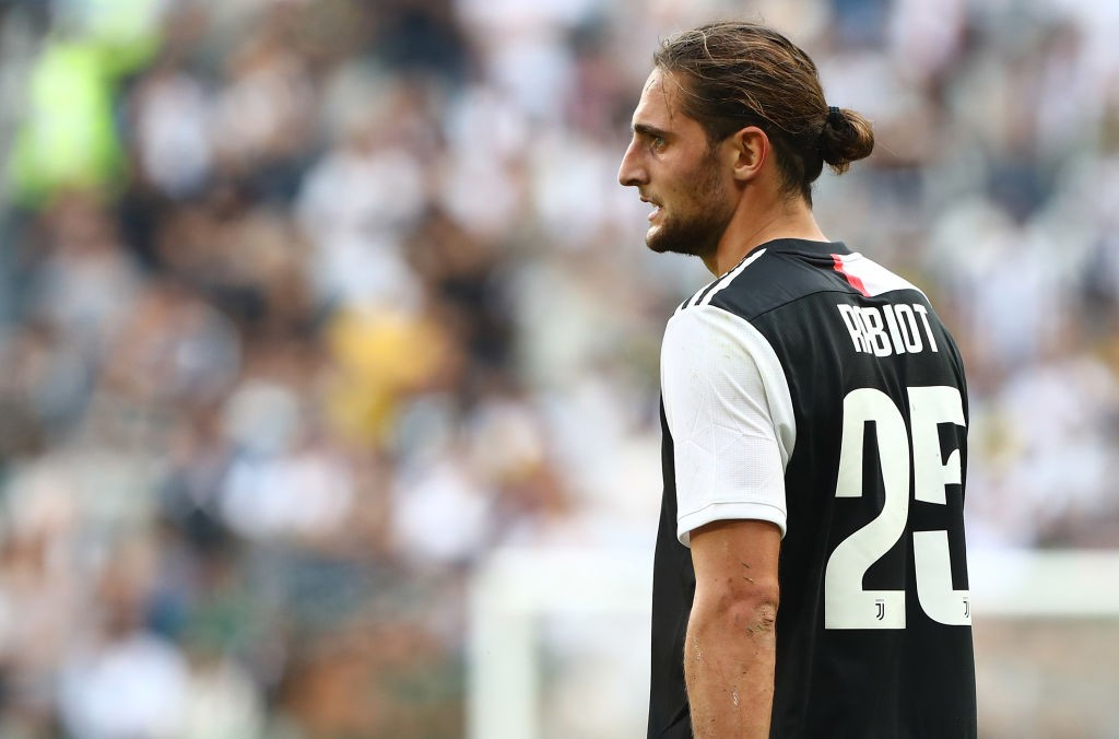 TURIN, ITALY - SEPTEMBER 28: Adrien Rabiot of Juventus looks on during the Serie A match between Juventus and SPAL at Allianz Stadium on September 29, 2019, in Turin, Italy. (Photo by Marco Luzzani/Getty Images)