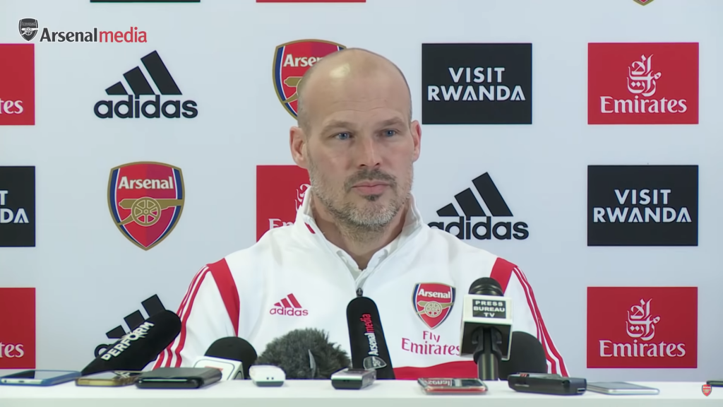 Freddie Ljungberg Press Conference (Photo via Arsenal / YouTube)