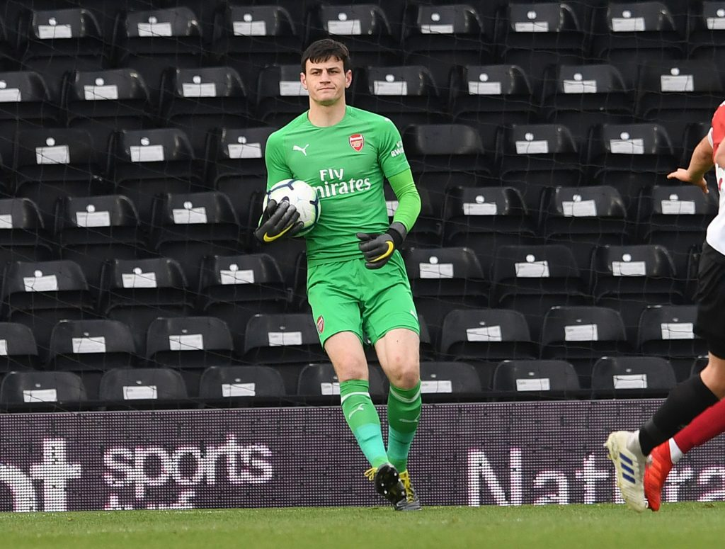 Tom Smith playing for Arsenal (Photo via Getty)