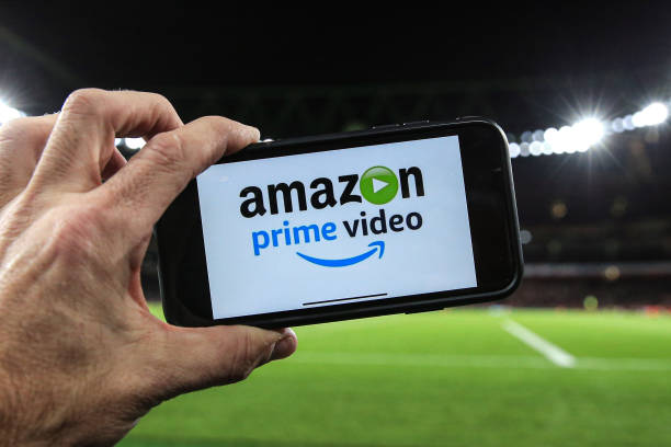 LONDON, ENGLAND - DECEMBER 05: Amazon prime showing the match live via the internet during the Premier League match between Arsenal FC and Brighton & Hove Albion at Emirates Stadium on December 5, 2019 in London, United Kingdom. (Photo by Marc Atkins/Getty Images)