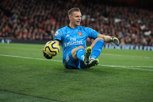 LONDON, ENGLAND - DECEMBER 05: Bernd Leno of Arsenal during the Premier League match between Arsenal FC and Brighton & Hove Albion at Emirates Stadium on December 5, 2019 in London, United Kingdom. (Photo by Marc Atkins/Getty Images)