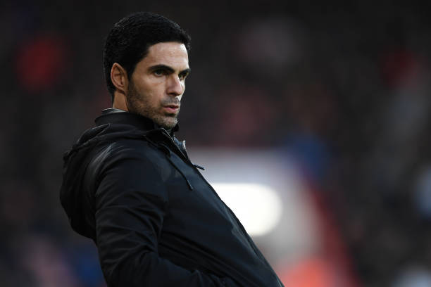 BOURNEMOUTH, ENGLAND - DECEMBER 26: Mikel Arteta, Manager of Arsenal reacts during the Premier League match between AFC Bournemouth and Arsenal FC at Vitality Stadium on December 26, 2019 in Bournemouth, United Kingdom. (Photo by Harriet Lander/Getty Images)