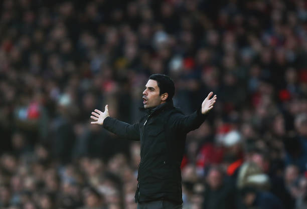 LONDON, ENGLAND - DECEMBER 29: Arsenal manager Mikel Arteta of reacts during the Premier League match between Arsenal FC and Chelsea FC at Emirates Stadium on December 29, 2019 in London, United Kingdom. (Photo by Julian Finney/Getty Images)