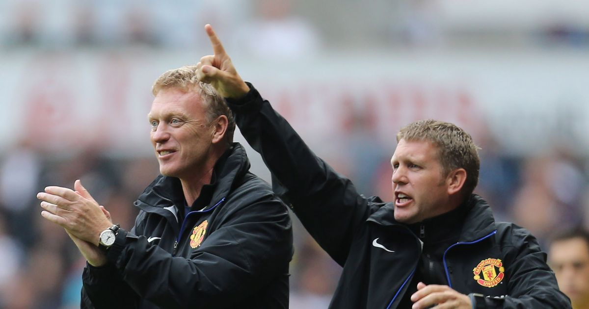 David Moyes and Steve Round at Manchester United