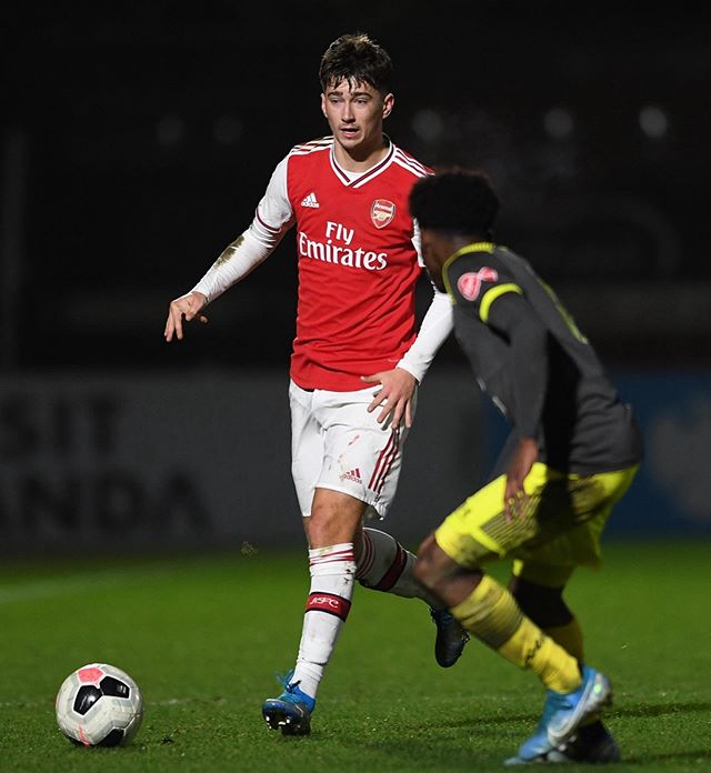 Alfie Matthews with Arsenal (Photo via Instagram)