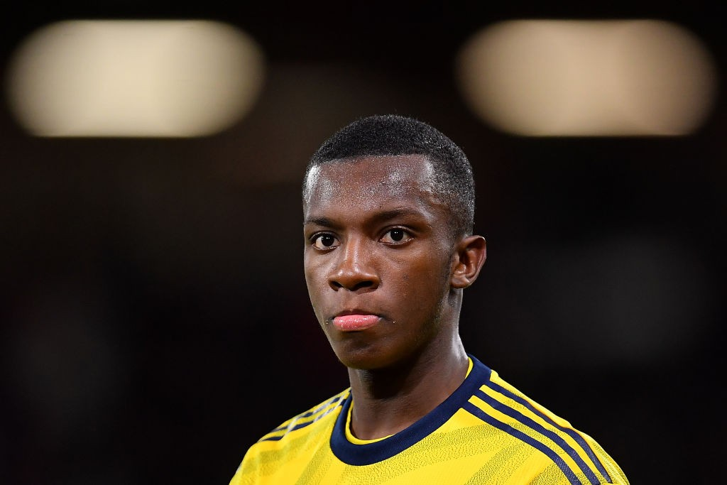 BOURNEMOUTH, ENGLAND - JANUARY 27: Edward Nketiah of Arsenal looks on during the FA Cup Fourth Round match between AFC Bournemouth and Arsenal at Vitality Stadium on January 27, 2020, in Bournemouth, England. (Photo by Justin Setterfield/Getty Images)
