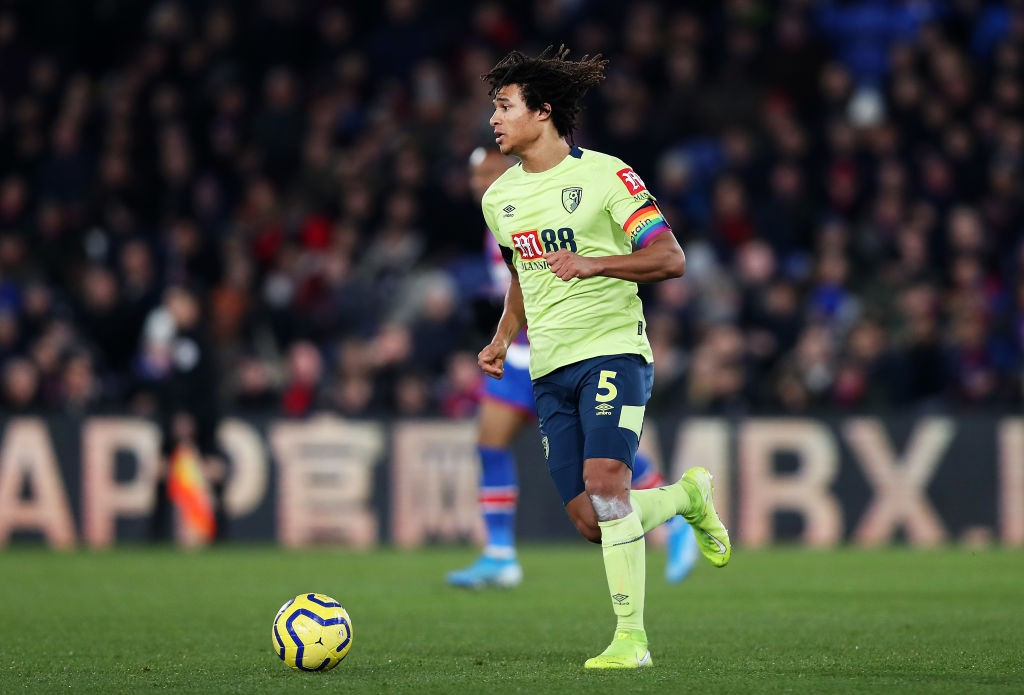 LONDON, ENGLAND - DECEMBER 03: Nathan Ake of AFC Bournemouth runs with the ball during the Premier League match between Crystal Palace and AFC Bournemouth at Selhurst Park on December 03, 2019, in London, United Kingdom. (Photo by Jack Thomas/Getty Images)