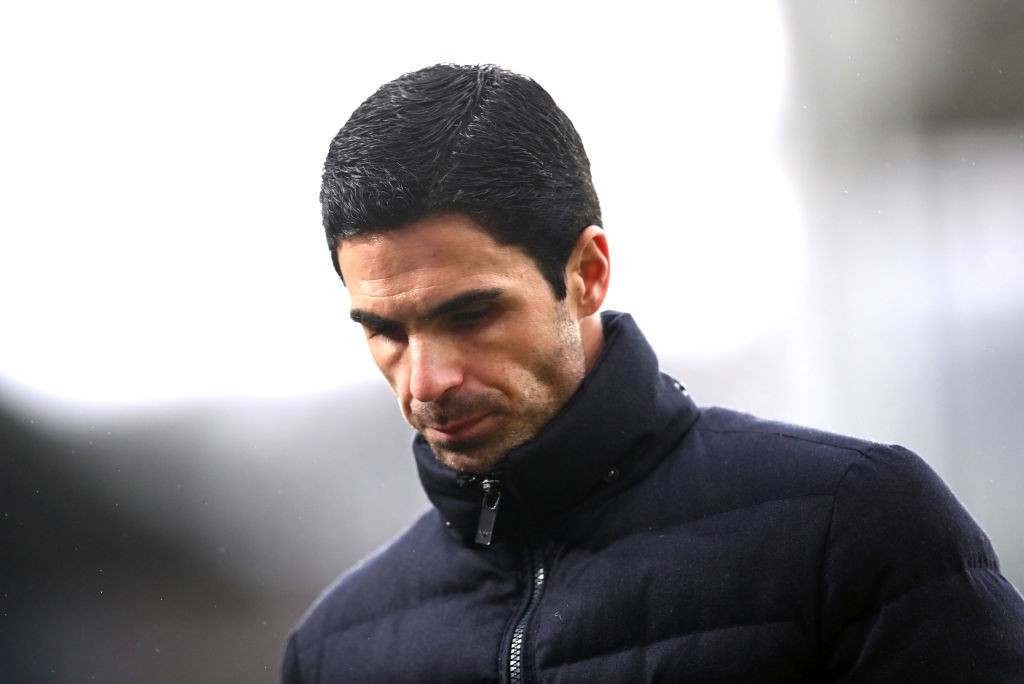 LONDON, ENGLAND - JANUARY 11: Mikel Arteta, Manager of Arsenal looks on after the Premier League match between Crystal Palace and Arsenal FC at Selhurst Park on January 11, 2020, in London, United Kingdom. (Photo by Dan Istitene/Getty Images)