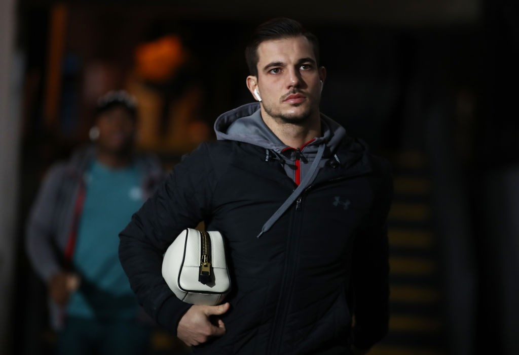 LONDON, ENGLAND - JANUARY 21: Cedric of Southampton arrives at the ground ahead of the Premier League match between Crystal Palace and Southampton FC at Selhurst Park on January 21, 2020, in London, United Kingdom. (Photo by Bryn Lennon/Getty Images)