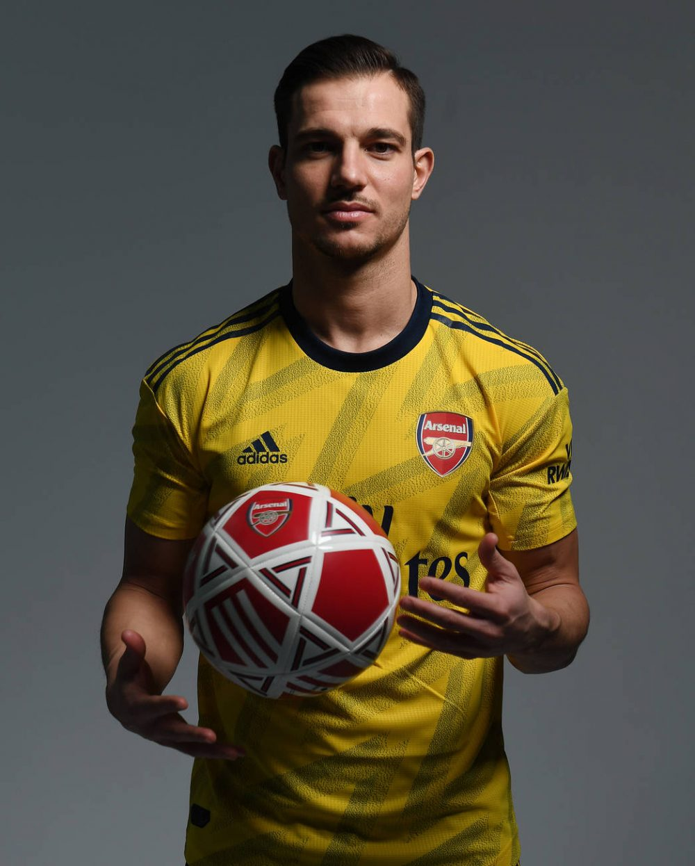 ST ALBANS, ENGLAND - JANUARY 30: Arsenal unveil new signing Cedric Soares at London Colney on January 30, 2020 in St Albans, England. (Photo by Stuart MacFarlane/Arsenal FC via Getty Images)