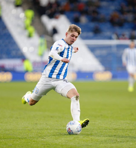 Emile Smith Rowe on his debut for Huddersfield Town (Photo via Instagram)