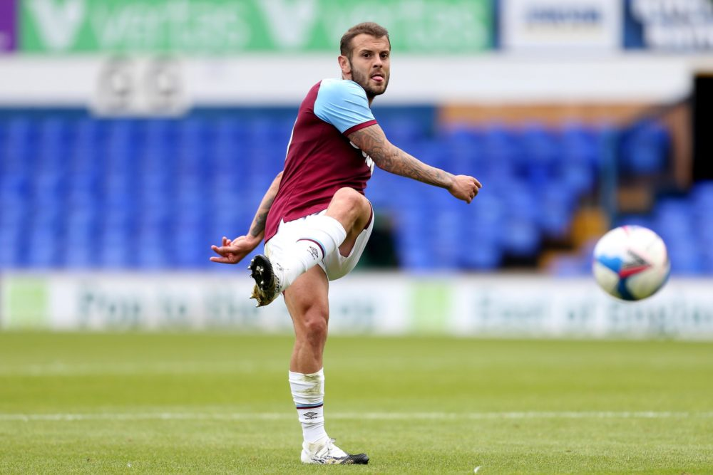 IPSWICH, ENGLAND - AUGUST 25: Jack Wilshire of West Ham United during the Pre-Season Friendly between Ipswich Town and West Ham United at Portman Road on August 25, 2020 in Ipswich, England. (Photo by Stephen Pond/Getty Images)