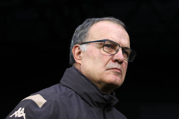 LONDON, ENGLAND - DECEMBER 21: Leeds manager Marcelo Bielsa during the Sky Bet Championship match between Fulham and Leeds United at Craven Cottage on December 21, 2019 in London, England. (Photo by Marc Atkins/Getty Images)