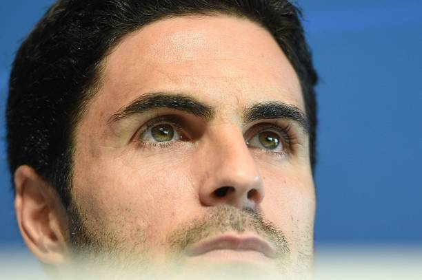 Manchester City's Spanish assistant coach Mikel Arteta attends a press conference at City Football Academy in Manchester, north west England on September 18, 2018, on the eve of the UEFA Champions League first round football match between Manchester City and Lyon. (Photo by Oli SCARFF / AFP) (Photo credit should read OLI SCARFF/AFP via Getty Images)
