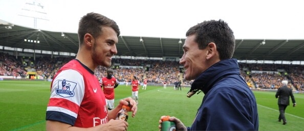 Aaron Ramsey and Gary O'Driscoll