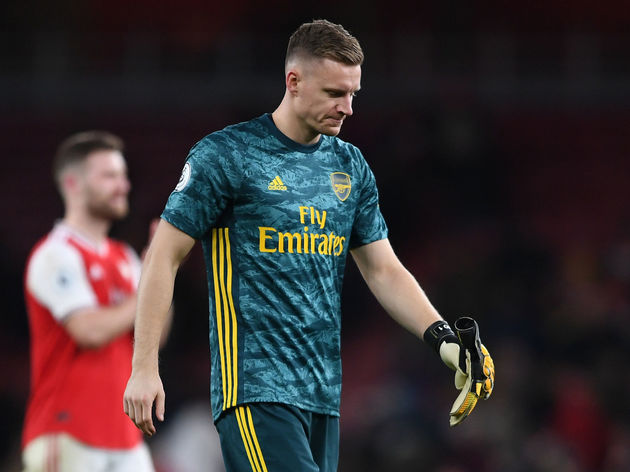 Bernd Leno after the game between Arsenal and Sheffield United (Photo via 90Min)
