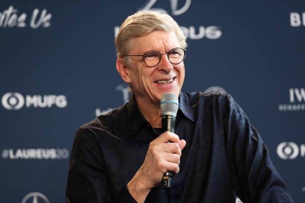 Arsene Wenger during an interview at the Mercedes Benz Building prior to the Laureus World Sports Awards on February 17, 2020 in Berlin, Germany.