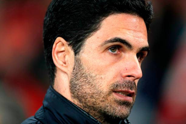 Arsenal's Spanish head coach Mikel Arteta arrives for the UEFA Europa league round of 32 second leg football match between Arsenal and Olympiakos at the Emirates stadium in London on February 27, 2020.