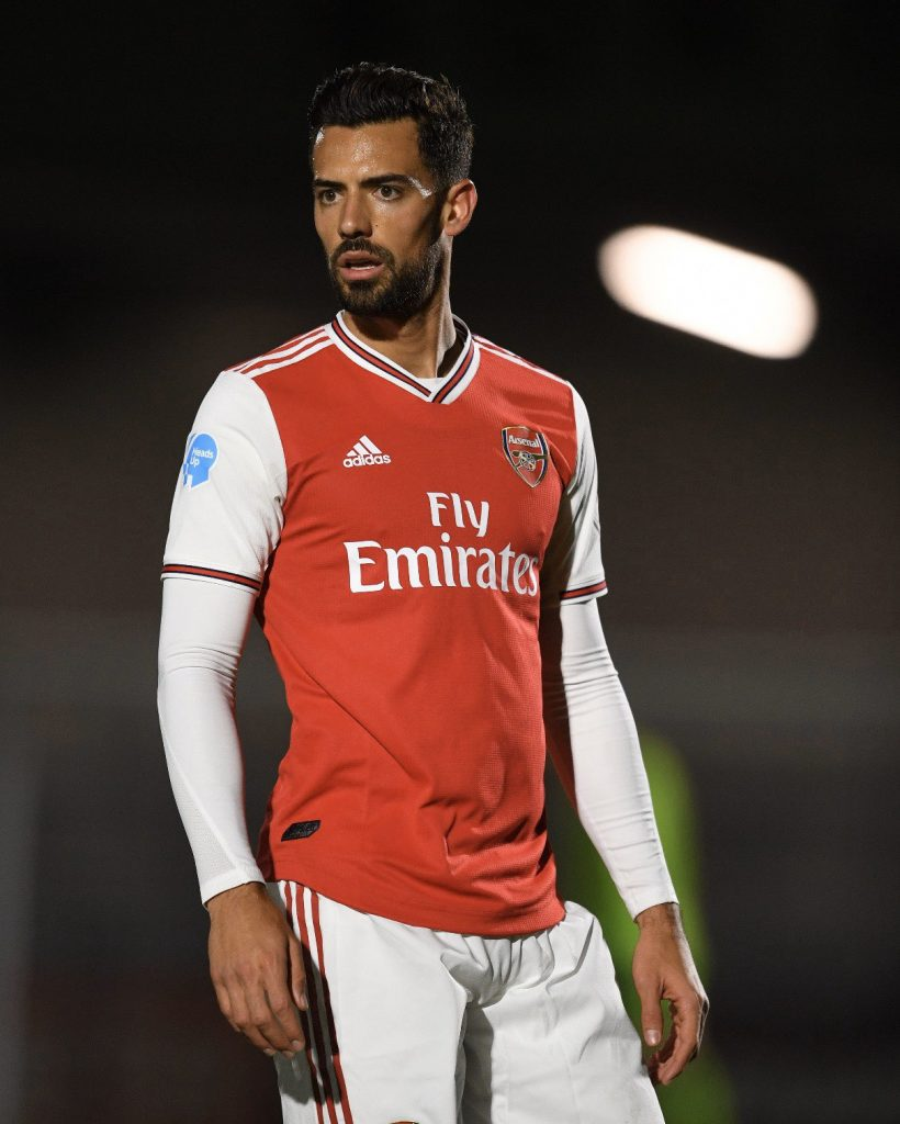 Pablo Mari with Arsenal (Photo via Twitter / PabloMV5)