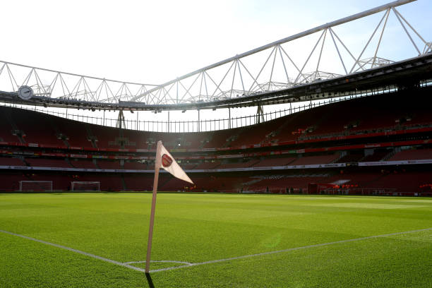 General view inside the stadium prior to the Premier League match between Arsenal FC and Everton FC at Emirates Stadium on February 23, 2020 in London, United Kingdom.