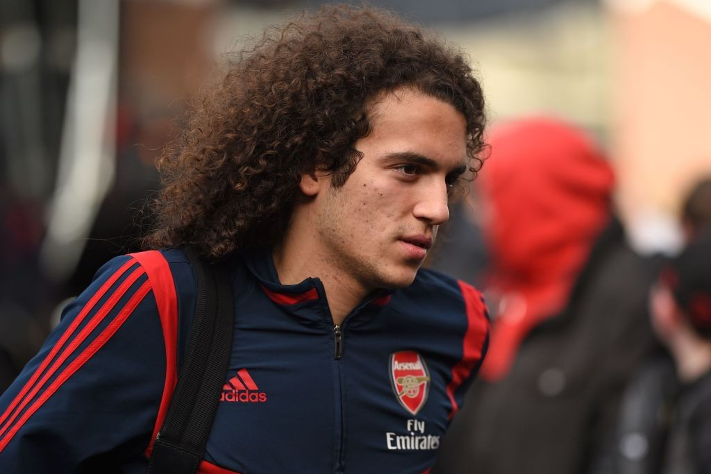 Arsenal's French midfielder Matteo Guendouzi arrives at the ground ahead of the English Premier League football match between Burnley and Arsenal at Turf Moor in Burnley, north west England on February 2, 2020. (Photo by Oli SCARFF / AFP via Getty Images)