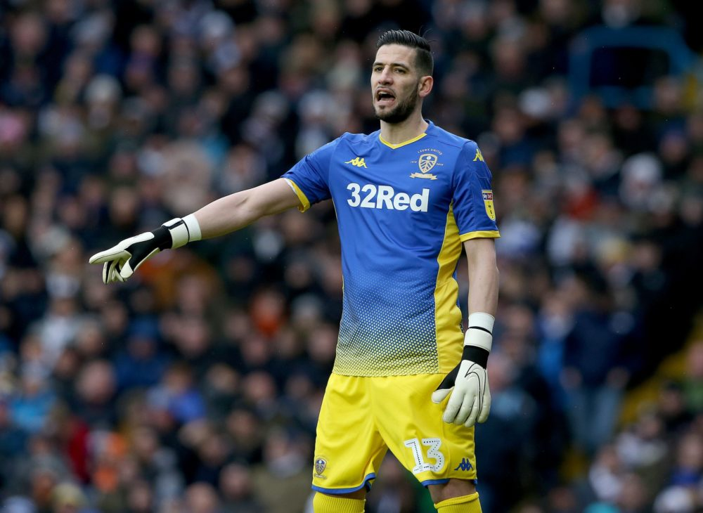 Kiko Casilla of Leeds United in action during the Sky Bet Championship match between Leeds United and Reading at Elland Road on February 22, 2020 in Leeds, England.